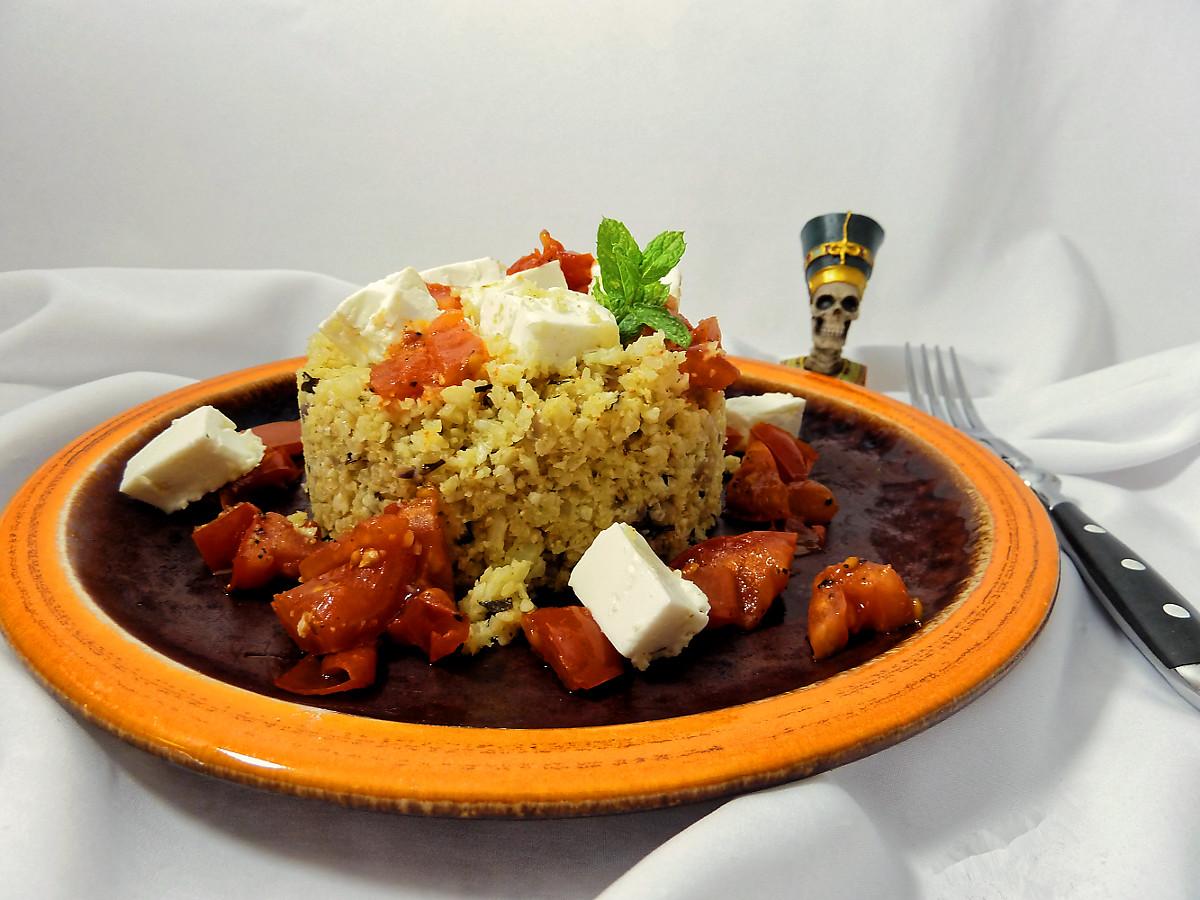 Rezeptentwicklung: Blumenkohl Couscous mit marokkanischer Gewürzmischung